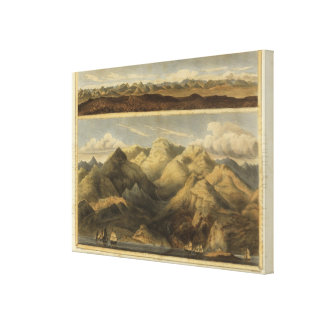 Heights, mountains of Scotland Canvas Print