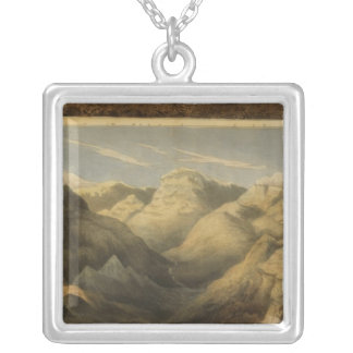 Heights, mountains of Scotland Silver Plated Necklace