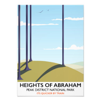 Heights of Abraham Peak District Rail poster