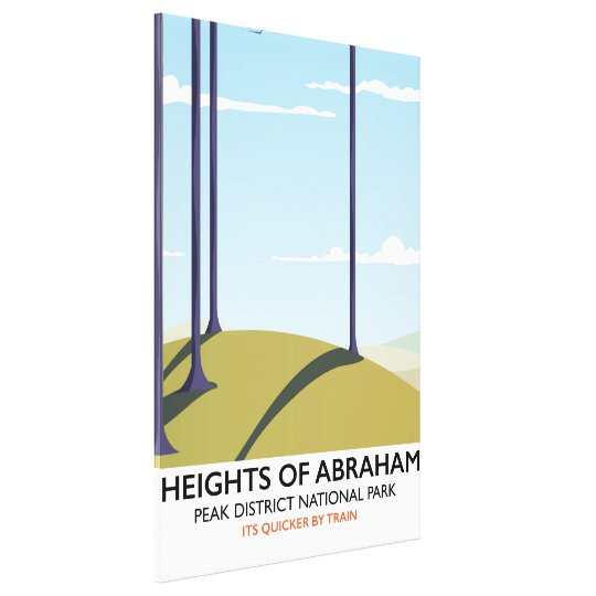 Heights of Abraham Peak District Rail poster Canvas