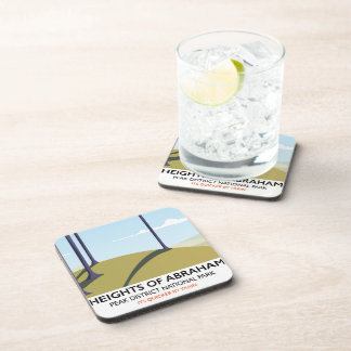 Heights of Abraham Peak District Rail poster Coaster