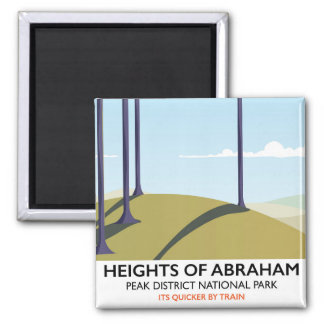 Heights of Abraham Peak District Rail poster Magnet