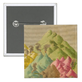 Heights of mountains 15 cm square badge