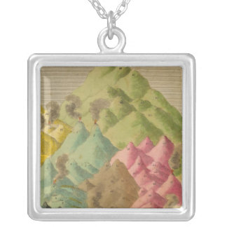 Heights of mountains silver plated necklace