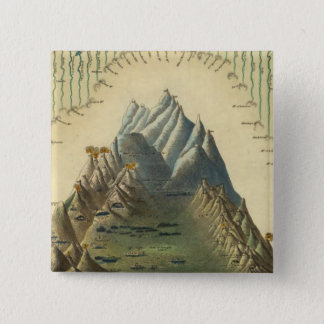 Heights Of The Principal Mountains In The World 15 Cm Square Badge