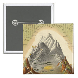 Heights Of The Principal Mountains In The World 2 15 Cm Square Badge