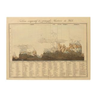 Heights of the World Wood Print