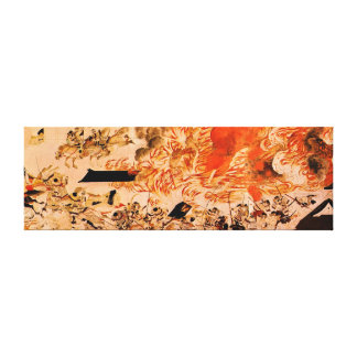 Heiji battle does not ran samurai gallery wrapped canvas