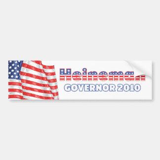 Heineman Patriotic American Flag 2010 Elections Car Bumper Sticker