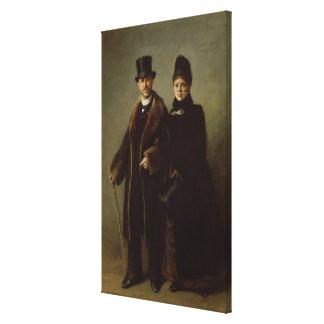 Heinrich Schliemann  and his Wife Canvas Print