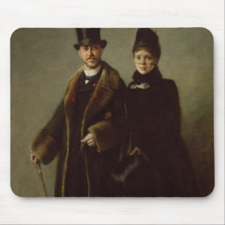 Heinrich Schliemann  and his Wife Mouse Pad
