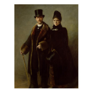 Heinrich Schliemann  and his Wife Postcard