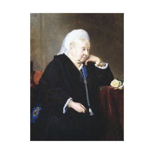 Heinrich von Angeli Queen Victoria Canvas Print