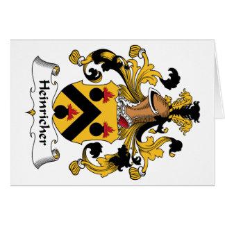 Heinricher Family Crest Greeting Card
