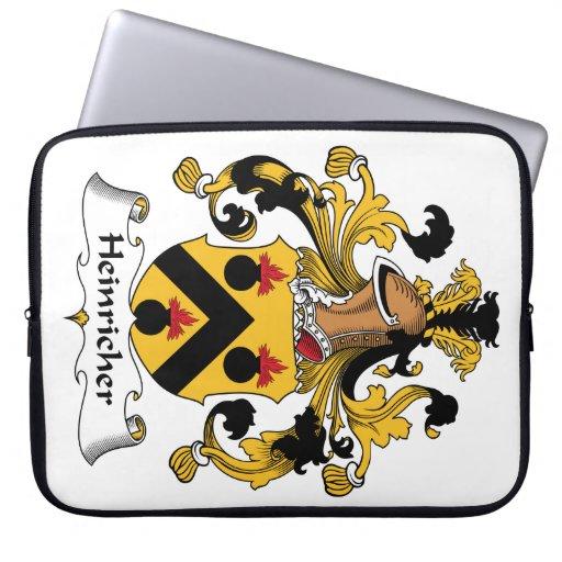 Heinricher Family Crest Computer Sleeve
