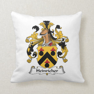 Heinricher Family Crest Throw Pillow
