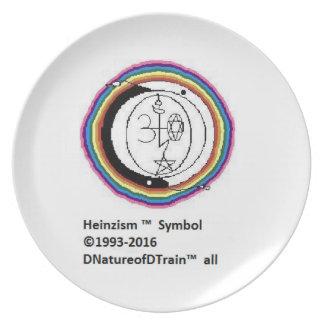 Heinzism logo Melamine Plate