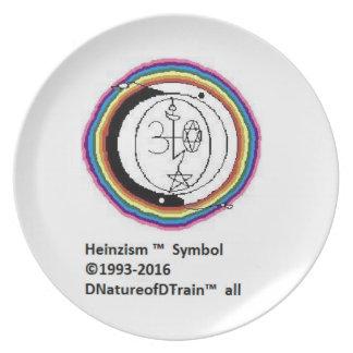 Heinzism Symbol Melamine Plate