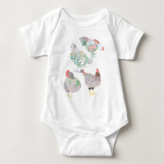 Heirloom Chicken Habitat Baby Bodysuit