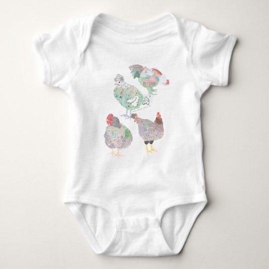 Heirloom Chicken Habitat Baby Bodysuit