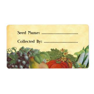 Heirloom Gardener Custom Seed Saver Labels