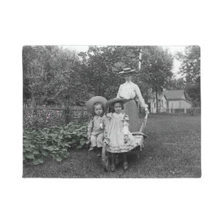 Heirloom Gardening Garden Mother Daughter 1890 Doormat