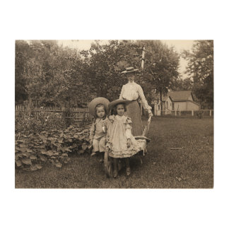 Heirloom Gardening Garden Mother Daughter 1890 Wood Wall Art