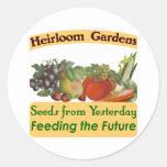 Heirloom Gardens Seed Labels Round Sticker