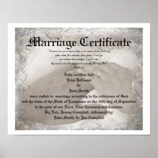 Heirloom Marriage Certificate Print