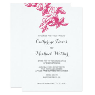 Heirloom Rose | Wedding Invitation