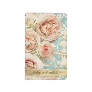 Heirloom Roses with Damask Add Name Journal