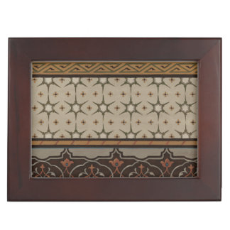 Heirloom Textile with Decorative Patterns Keepsake Box