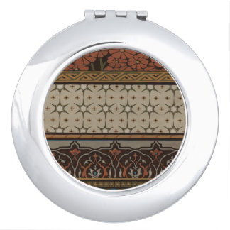 Heirloom Textile with Decorative Patterns Vanity Mirror