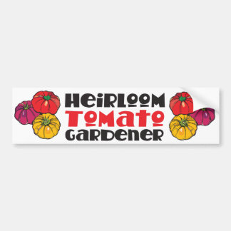 Heirloom Tomato Gardener Bumper Sticker
