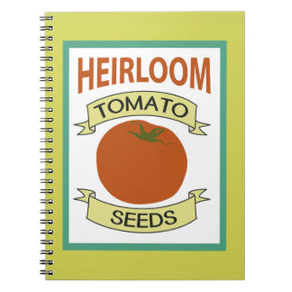Heirloom Tomato Seed Packet Notebook