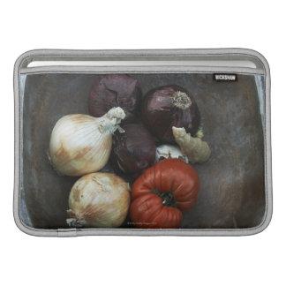 Heirloom tomato, yellow onion, red onion, ginger MacBook sleeve