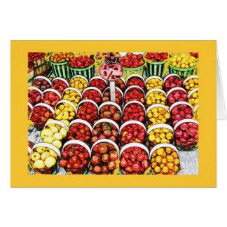 Heirloom Tomatoes at Jean Talon Market, Montreal Card
