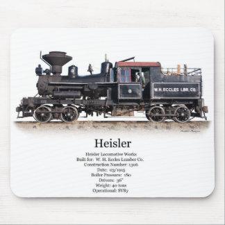 Heisler Logging Locomotive Mouse Mat