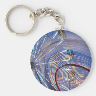 Helaine's Carnival 3 Basic Round Button Key Ring