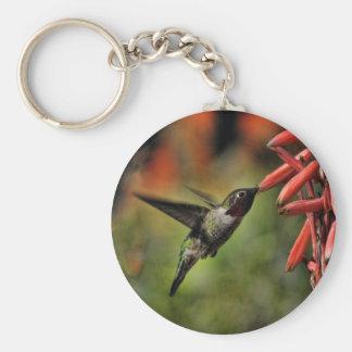 Helaine's Hummingbird 2 Basic Round Button Key Ring