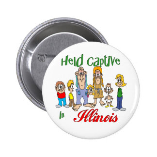 Held Captive in Illinois 6 Cm Round Badge