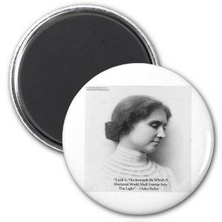 "Helen Keller ""Faith/Strength"" Wisdom Quote Gifts 6 Cm Round Magnet"