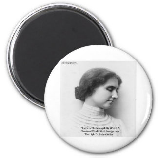 "Helen Keller ""Faith/Strength"" Wisdom Quote Gifts 6 Cm Round Magnet"