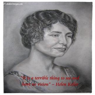 Helen Keller Having Vision Wisdom Quote Printed Napkin - helen_keller_having_vision_wisdom_quote_cloth_napkin-rdbd2d20ba22940eca57f73a82d0b95fd_2cf00_8byvr_324