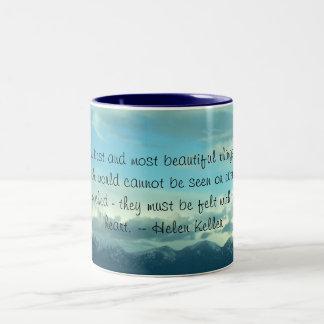 Helen Keller Quote Montana Sky Mug