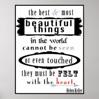 Helen Keller Quote Poster