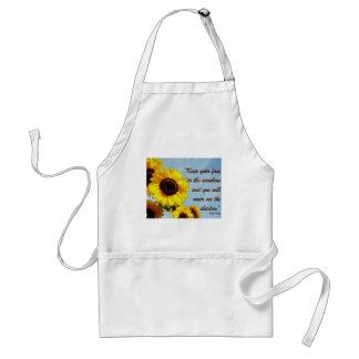 Helen Keller Quote with Sunflower Standard Apron