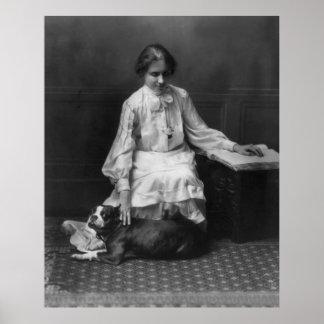 Helen Keller Reading Braille, 1904 Print