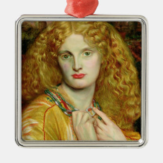 Helen of Troy, 1863 Silver-Colored Square Decoration