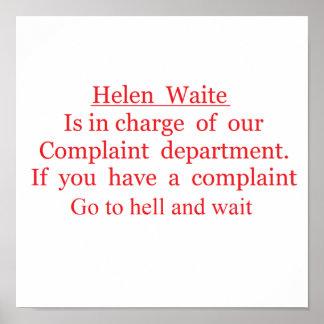 helen  waite poster